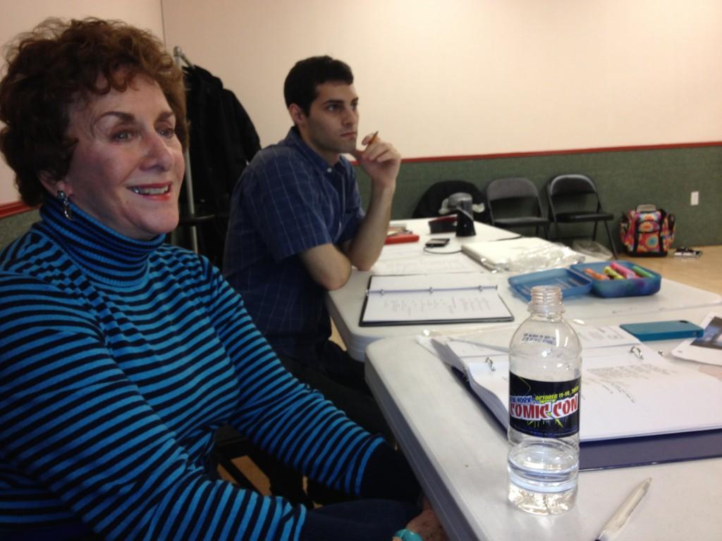 Elizabeth Falk in Rehearsal